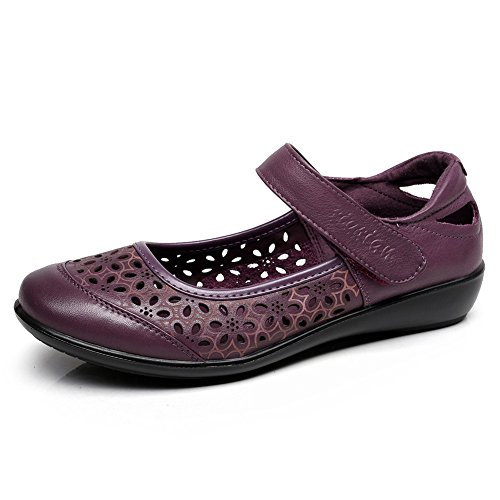 madre en zapatos de verano/Señoras zapatos planos/ suave madre sandalias A