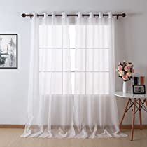 Deconovo Grommet Top Sheer Voile Curtain