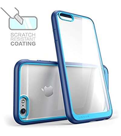 iPhone 6s Case, [Scratch Resistant] i-Blason Clear [Halo Series] Also Fit Apple  iPhone 6 Case 6s 4.7 Inch Hybrid Bumper Case Cover (Clear/Navy): Amazon.in:  Electronics