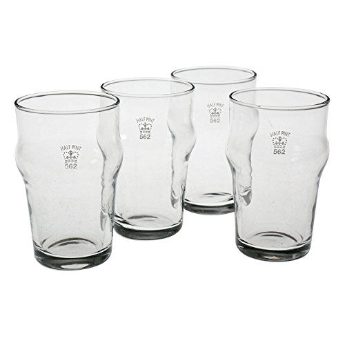 Set of 4 Nonic 1/2 Pint Glass - Government Stamped by Pub Paraphernalia