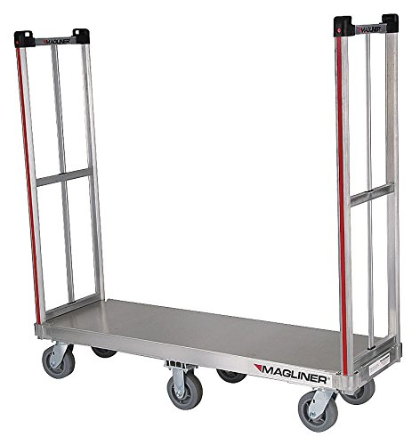 Magline BDHK162 Aluminum Rapid Delivery Hand Truck, Removable Handle, Thermoplastic Wheels, Silver, 1200lbs Capacity, 18'' Height, 60'' Length x 18'' Width by Magliner