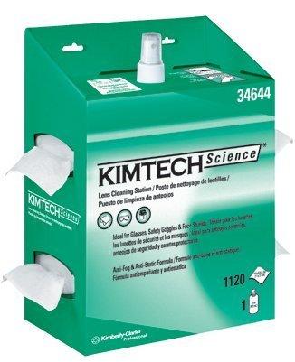KIMBERLY-CLARK PROFESSIONAL* KIMTECH SCIENCE KIMWIPES Lens Cleaning, POP-UP Box, 1120 Wipes/Box, 4/Carton