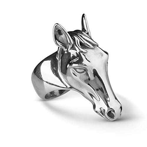 (American West Sterling Silver Horse Head Ring Size 8)