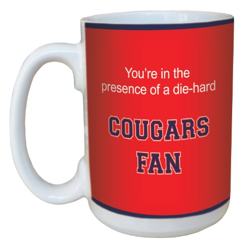 Tree-Free Greetings lm44732 Cougars College Basketball Ceramic Mug with Full-Sized Handle, - Cougars Houston College Basketball