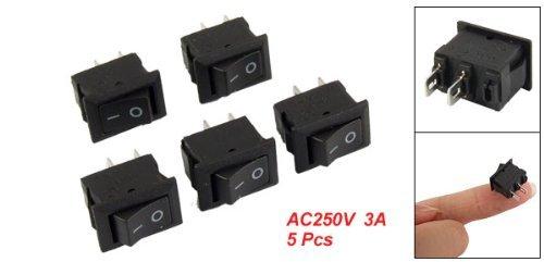 12 opinioni per TOOGOO (R) 5 x Mini interruttore a bilanciere on/off SPST AC 250V 3A 2 Pin