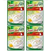Knorr Cooked Organic Thai Jasmine Rice Porridge, Chicken, 35 Gram (Pack of 4)