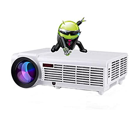 Gzunelic 5500 lumens Smart LCD LED Video Projector 1080p Android WiFi Full HD Home Theater Proyector Built in Android OS Bluetooth Wireless Mirror to ...