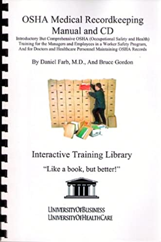 osha medical recordkeeping manual and cd introductory but rh amazon com Corporate Safety Program Iipp Safety Manual