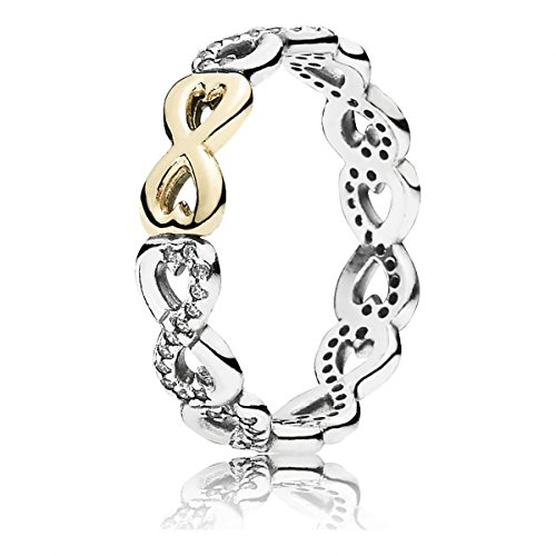 Pandora Infinite Love Stackable Ring, Clear CZ 190948CZ-58