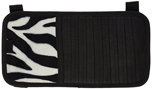 White Zebra Animal Print 10 CD/DVD Car Visor Organizer