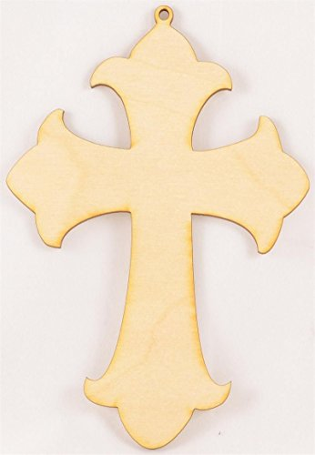 Package Of 10, Cross Wood Cutout 7