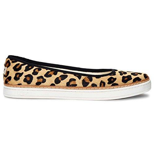 UGG Women's Kammi Calf Hair Leopard Chestnut Leopard Sneaker 8.5 B (M)