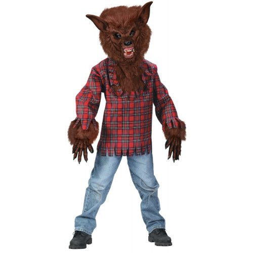 Fun World Werewolf Brown Boy Kids Costume, Multicolor, Large 12-14 -