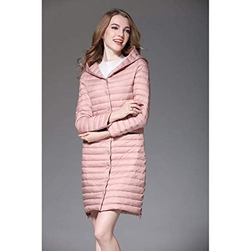 Costume Rosa Lgrement Rembourr Bouton Legere Fit Mode XL Warm Hiver lgant Femme Outerwear Longues Impermable Gaine Slim Size A Manteaux Color Capuche Doudoune xqnRWpZwOw