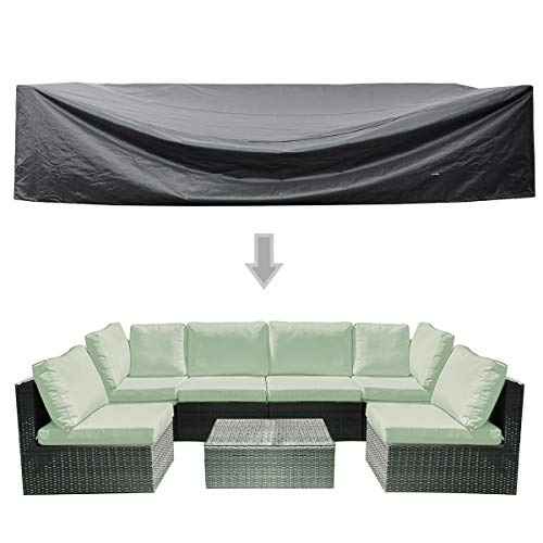 (WOMACO Patio Cover Outdoor Furniture Lounge Porch Sofa Waterproof Dust Proof Protective Covers (126