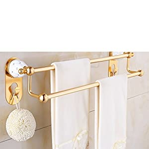 on sale European style Towel rack/Double pole towel rack/Space aluminum bathroom accessories/Metal-bathroom/shelf/wall mounted rack-B