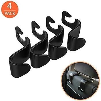 Ofspower 4Pack Car Vehicle Back Seat Headrest Organizer Hanger Storage Hook for Groceries Bag Handbag