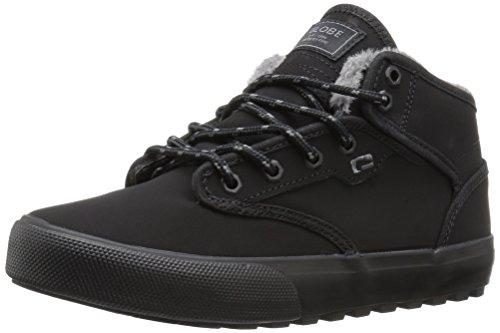 Globe Hombres Motley Mid Skate Shoe Negro / Piel Sintética Negra