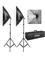 Softbox Dauerlicht Studioleuchte, ESDDI Softboxen 2er Set, Studio Lights Fotostudio Licht Beleuchtung Fotografie, 700W Ausgang