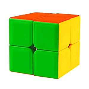 HJXD Magic Cube Set 4 Pack 2x2x2 3x3x3 4x4x4 5x5x5 Stickerless Speed Cube True Color