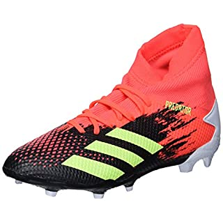 adidas Men's Predator 20.3 Firm Ground Soccer Shoe, Black/Signal Green/Pop, 10.5 M US
