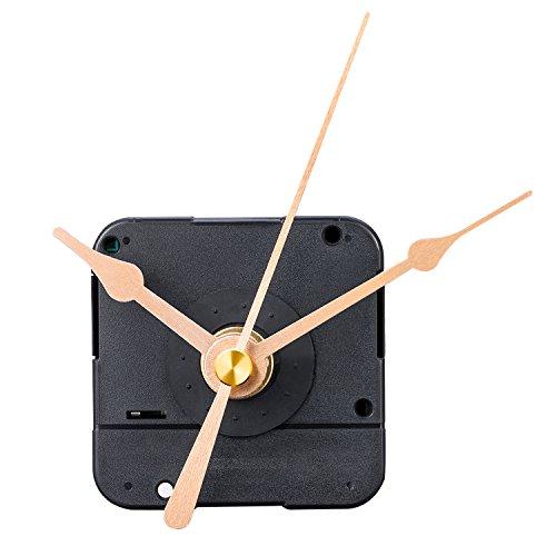 MUDDER DIY Clock Movement Mechanism, 1/5 Inch Maximum Dial Thickness, 17/25 Inch Total Shaft Length (Gold)