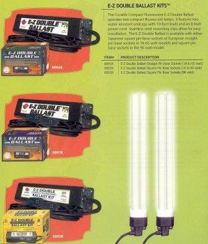 EZ DOUBLE BALLAST FOR 2 SQUARE PIN COMPACT LAMPS 18-65 WATT ()