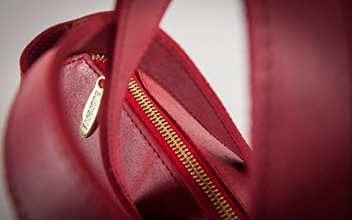 vera shopping modello shopping Made da rossa effetto Amelia Italy in borsa bag Passionebags in pelle donna vintage bag vwxY0dq