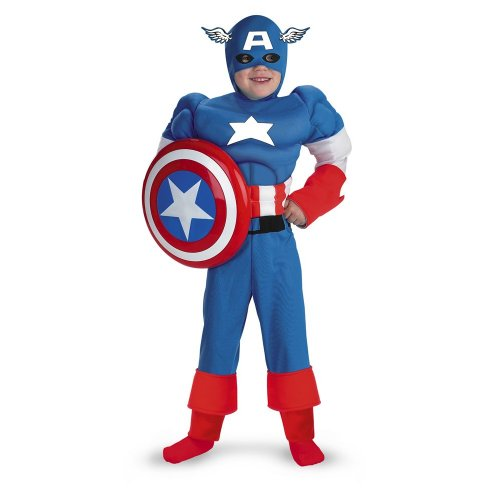 Captain America Muscle - Size: Child (Captain America New Costume Marvel Now)