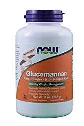 Glucomannan Powder 100% Pure Now Foods 8 oz Powder (Pack of 2)