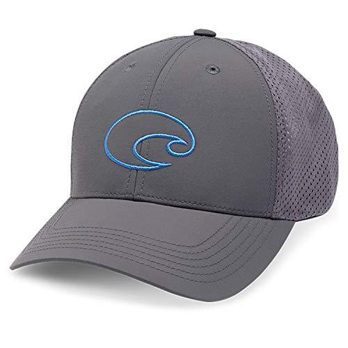 - Costa Del Mar Structured Performance Logo Hat, Grey