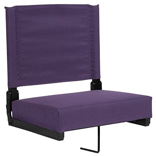 (Flash Furniture Grandstand Comfort Seats by Flash with Ultra-Padded Seat in Dark Purple)