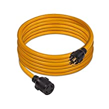 Firman Power 1130 Cord-25 ft, 10AWG with Circuit Breaker, 30 Amps/250 Volts, L14-30P to L14-30R (Renewed)