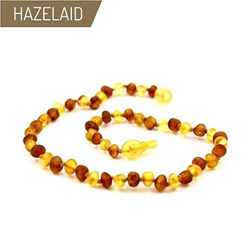 Hazelaid (TM) 12'' Pop-Clasp Baltic Amber Nutmeg & Lemondrop Necklace by HAZELAID