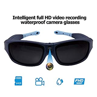 Viview G40 Sports Video Camera Glasses - Outdoor - HD1080@30fps/720P@60fps IP55 Waterproof w/OTG Function & Adjustable Lens- Four Colors (Ocean Blue)