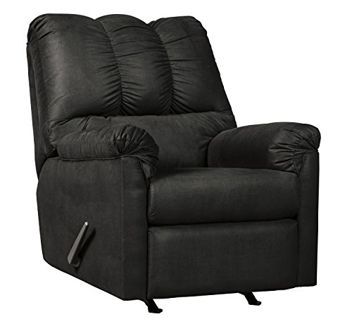 Ashley Furniture Signature Design Darcy Contemporary Rocker Recliner Chair Manual Reclining Black