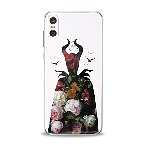 Lex Altern TPU Case for Motorola Moto G7 Power One P30 P40 Note G6 Z4 Floral Maleficent Clear Rose Cute Flexible Girl Flower Cover Translucent Protective Women Silicone Movie Present Silhouette Gift]()