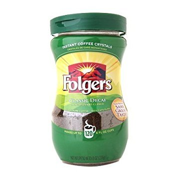 Folgers, Classic Decaf, Instant Coffee, 8oz Canister (Pack of 3)