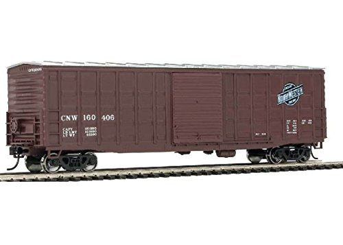 - 50' WAFFLE-SIDE BOXCAR - READY TO RUN -- CHICAGO & NORTH WESTERN(TM) 160406 (SUPERIOR DOORS, BOXCAR RED, RAILWAY LOGO)