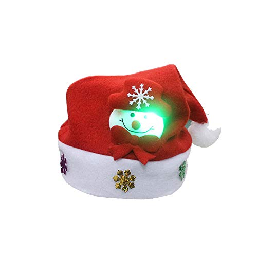 Halloween Party Ideas For Adults Content (Fine LED Light Up Christmas Hat, Luminous Led Red Santa Hat,Glow Party Headwear Decoration Supplies, Santa Hat Kids Adult Christmas Party Decoration (A,)