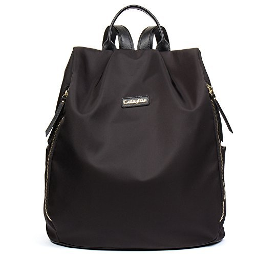 CALLAGHAN Canvas Backpack Purse Large Lightweight School Backpack for Women Black