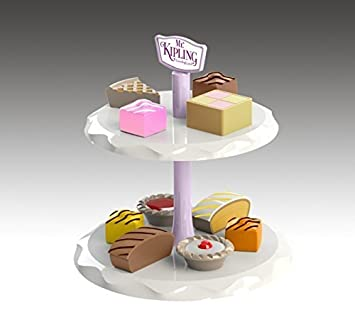 Casdon plc 683 Mr Kipling Toy Cake Stand Multiple