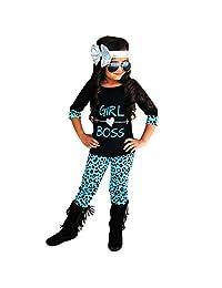 DaySeventh 2PCS Toddler Kids Girls Outfits T-shirt Tops Dress+ Pants Clothes Set