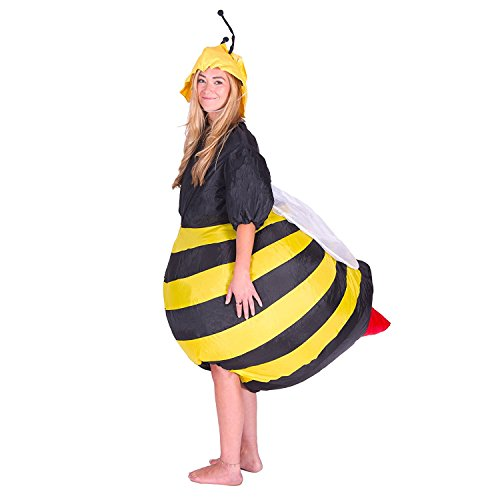 Dancing Dolls Halloween Costumes (Wecloth Halloween costume Inflatable Suit Cosplay Bee Costume for Party Dance Game)