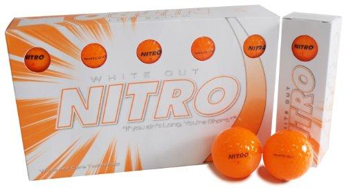 (Nitro White Out Ball (15-Pack), Orange)