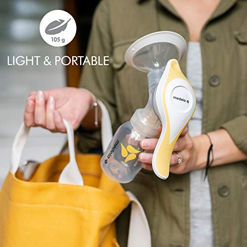 41K08yrMHJL - New Medela Harmony Manual Breast Pump, Single Hand Breastpump With Flex Breast Shields For More Comfort And Expressing More Milk