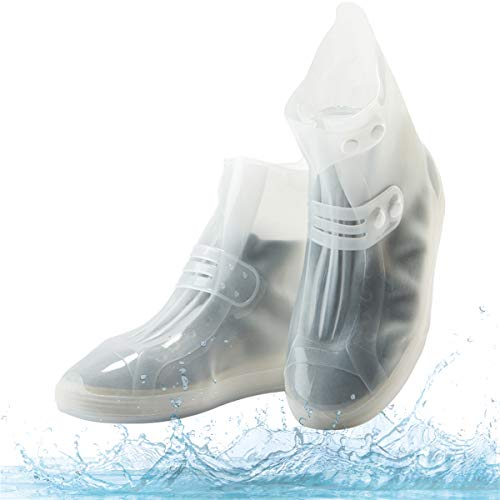 - Waterproof Shoe Covers, Portable Rain Boots with Adjustable Belt Buttons Anti-Slip/Reusable