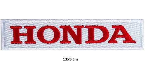 Honda Logo Patch - Red on White Honda Racing Team Motorcycle Biker Patch Logo Vest Jacket Hat Hoodie Backpack Patch Iron On
