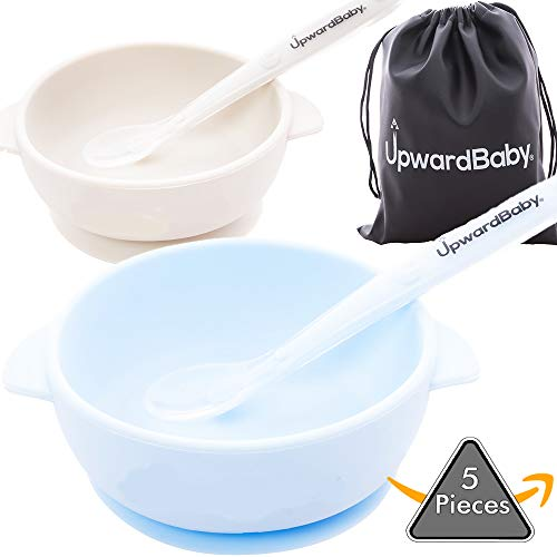 5 Piece Silicone Baby Bowls Set with