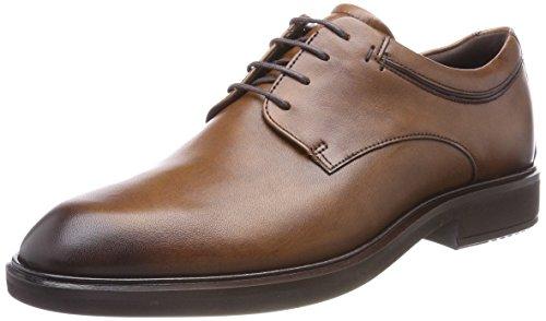 ECCO Men's Vitrus II Plain Toe Tie Oxford, Amber, 40 M EU (6-6.5 (Apron Toe Tie Oxford)